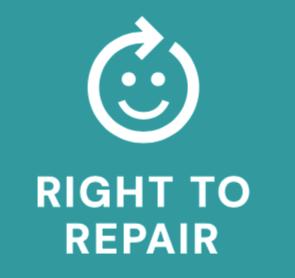 Right to repair white logo
